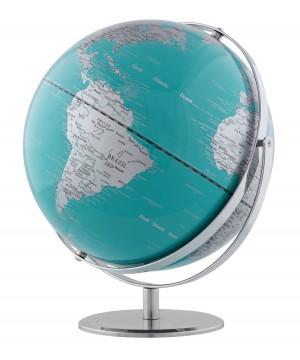 Globus JURI, drehbar, aquamarinblau