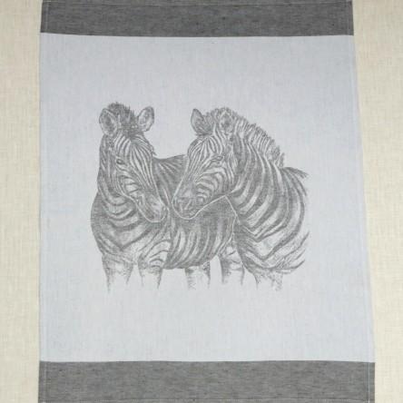 """Leinen Geschirrtuch """"Zebra"""" – Driessen Schlitzer Leinen"""