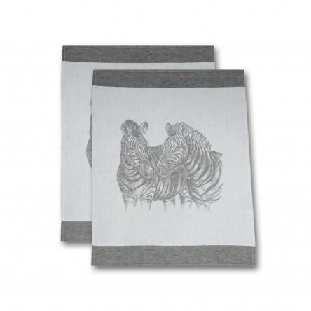 """Leinen Geschirrtuch """"Zebra"""" (2er-Set) – Driessen Schlitzer Leinen"""