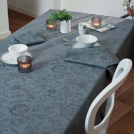 MILLE CHARMES ANTHRACITE – Beschichtete Tischdecke von Garnier Thiebaut