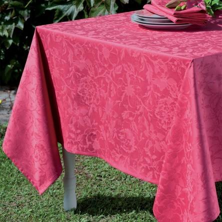 MILLE CHARMES FRAMBOISE – Beschichtete Tischdecke von Garnier Thiebaut, rosé