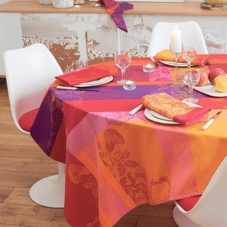 MILLE FIORI FEUILLAGE – Beschichtete Tischdecke von Garnier Thiebaut