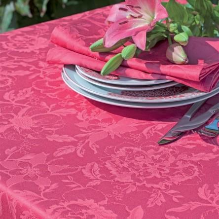 MILLE CHARMES FRAMBOISE – Beschichtetes Tischset von Garnier Thiebaut, rosé