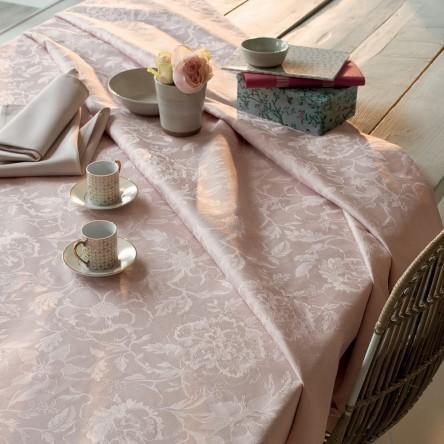 MILLE CHARMES ROSE FUME   – Beschichtete Tischdecke von Garnier Thiebaut