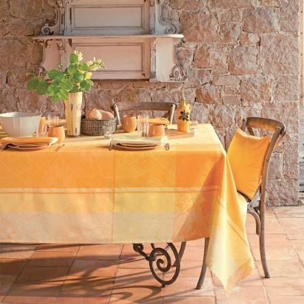 MILLE OISEAUX LIMONI – Beschichtete Tischdecke von Garnier Thiebaut