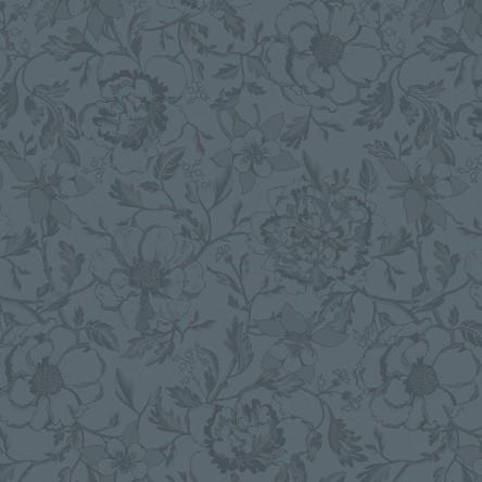 MILLE CHARMES ANTHRACITE – Serviette von Garnier Thiebaut, reine Baumwolle