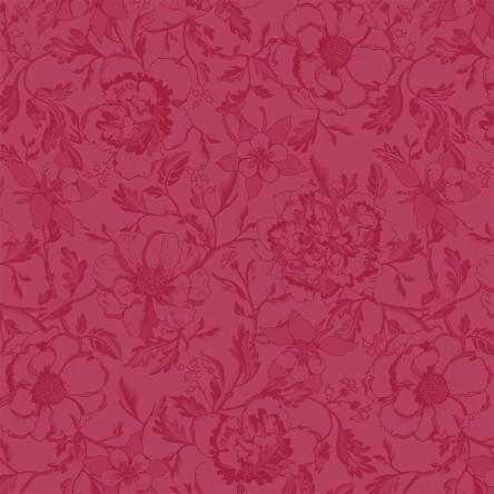 MILLE CHARMES FRAMBOISE – Serviette von Garnier Thiebaut, reine Baumwolle