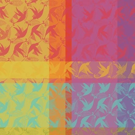 MILLE COLIBRIS ANTILLES – Serviette von Garnier Thiebaut, reine Baumwolle