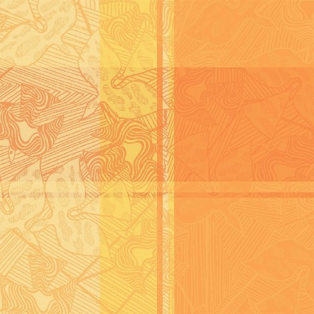 MILLE OISEAUX LIMONI – Serviette von Garnier Thiebaut, reine Baumwolle